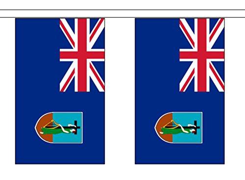1000 Flags Montserrat Drapeau en polyester Guirlande de fanions 6 m (20 ') avec 20 fanions