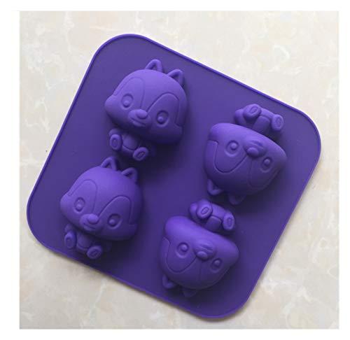 JUNMAIDZ Moldes de Resina Molde de la Torta de Silicona Molde de aromaterapia con Molde de jabón Hecho a Mano de 4 Piezas (Color : 145x140x25mm)