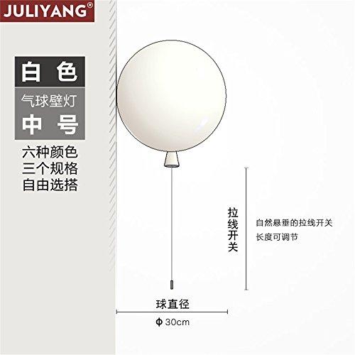 JJZHG wandlamp wandlamp wandlamp kleur ballon wandlamp voor kinderen slaapkamer lamp gangpad lichten led slaapkamer nachtlampje wit (30cm) omvat: wandlampen, wandlamp met leeslampje