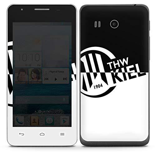 DeinDesign Folie kompatibel mit Huawei Ascend G525 Aufkleber Skin aus Vinyl-Folie Handball THW Kiel Fanartikel