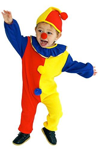 DEMU Clown-Kostüm Kinderkostüm Baby Kleindkind Halloween Jumpsuit Faschingskostüm M(110-120)