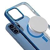 通用 Custodia a portafoglio per iPhone 11, rimovibile, in vera pelle, con chiusura magnetica, per iPhone 12 SE 2020 11 Pro XS MAX XR 8 7 Plus, blu