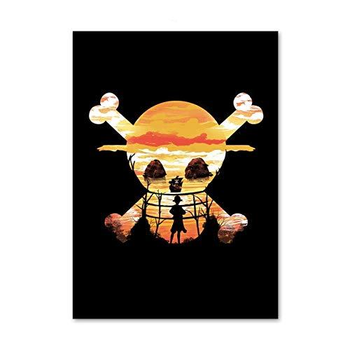 supmsds Kein Rahmen HD One Piece Dragon Ball Naruto Cartoon Cartoon Poster Höhe Qualität Leinwand Malerei Höhe Qualität Wohnkultur 60x90cm