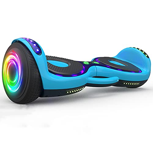 Patinetes Eléctricos - Scooter Autoequilibrante 6.5 - Hoverboards Scooter Eléctrico - Altavoz Bluetooth Luces Led Y Ruedas Intermitentes - Hoverkart para Niños Gift