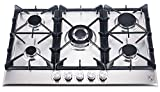 K&H 5 Burner 30' Built-in LPG Gas Stainless Steel Cast Iron Cooktop 5-30-SSW-LPG