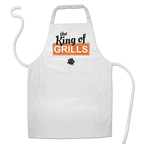 getshirts - SizzleBrothers Merchandise Shop - Schürze - SizzleBrothers - Grillen - King Of Grills - white uni