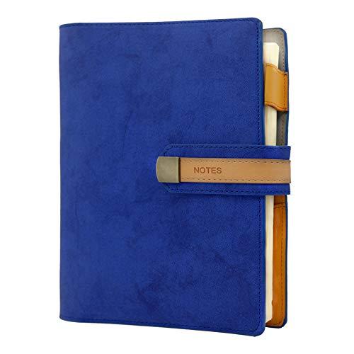Nachfüllbares Business A5 Notizbuch, PU Leder Notebooks 100 Blatt Reise Journal Notizblock Notizbuch für Frauen/Männer