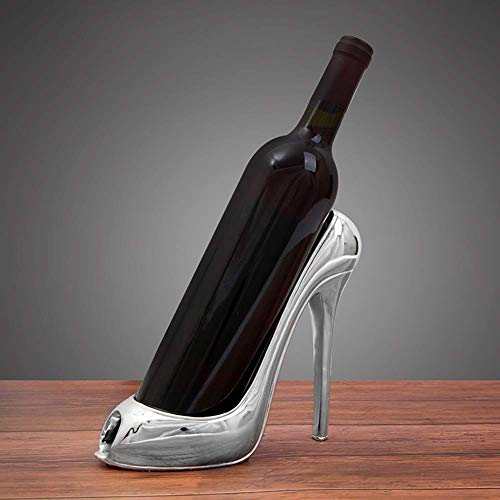 Stijlvolle en eenvoudige huis moderne minimalistische hoge hak schoen vorm wijnfles houder stijlvolle wijn rek accessoires voor thuis decor,B, C-F D