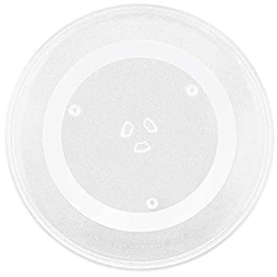 """WB49X10063 Microwave Turntable Glass Tray 14.5"""" Plate by Beaquicy - Replacement for GE"""
