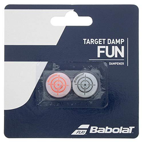 Babolat Target Damp X2 Antivibradores, Adultos Unisex, Noir Rouge Fluo (Multicolor), Talla Única