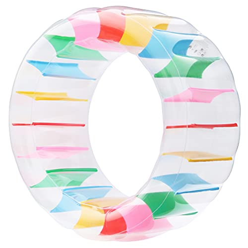 Kurala Inflatable Water Wheel, 47 Inches Giant Roller Float, Colorful Swimming Pool Float for Kids
