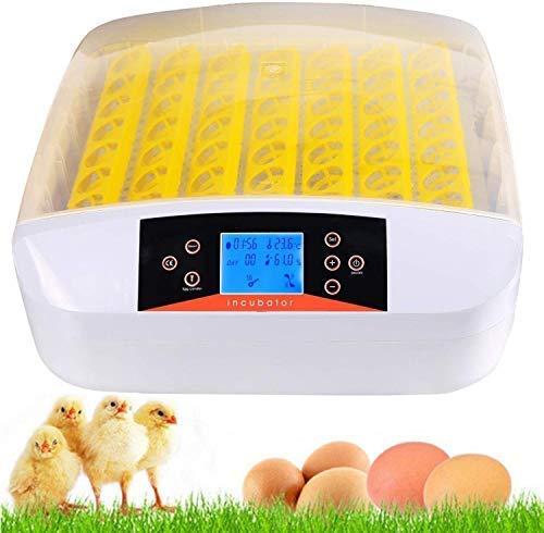 Brutmaschine Vollautomatische 32/56 Eier Inkubator, Sailnovo Brutgerät Brutkasten Motorbrüter Brutapparate Inkubatoren für Geflügeleier mit Temperaturanzeige und Feuchtigkeitsregulierung (56 Eier LED)