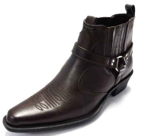 Us Brass, Stivali da cowboy uomo, Marrone (marrone), 8 UK