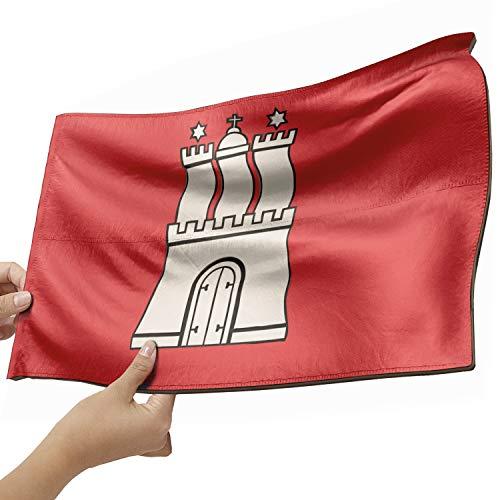 Hamburg Flagge als Lampe aus Holz - schenke deine individuelle Hamburg Fahne - kreativer Dekoartikel aus Echtholz