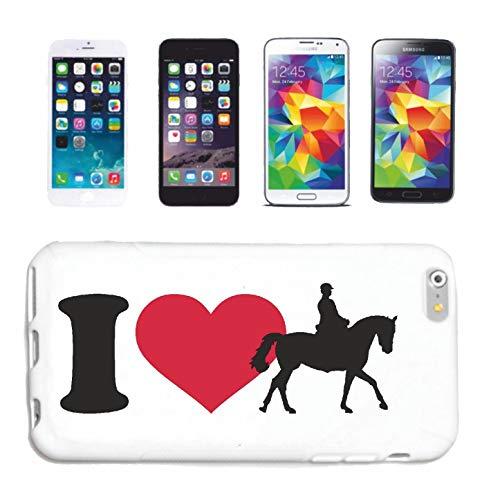 Bandenmarkt telefoonhoes compatibel met iPhone 4 / 4S I Love Dressur REITEN paardsport dressure paarden ruiter hardcase beschermhoes mobiele telefoon cover Smart Cov