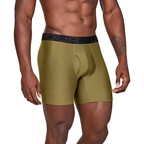 Under Armour Tech 6 in 2 pak sneldrogende boxershorts, comfortabel ondergoed met strakke snit