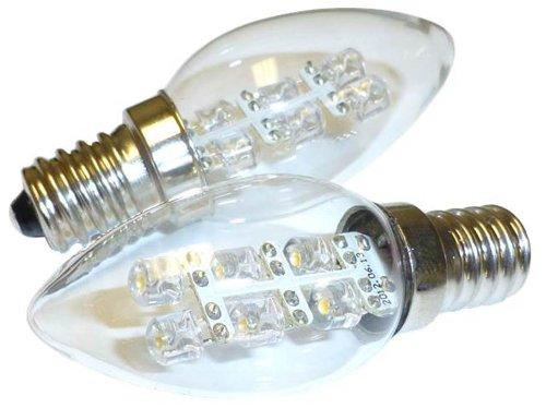 C7 2-Pack LED Night Light Bulb 15 Lumen 0.5W (5W) 2900K E12 Base