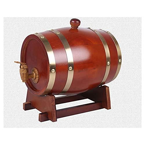 Barriles de vino de madera para el hogar para contenedores de vino Barril de envejecimiento de roble 10L, dispensador de agua de whisky, adecuado para decorar barras, hogar, decoraciones de escenas de