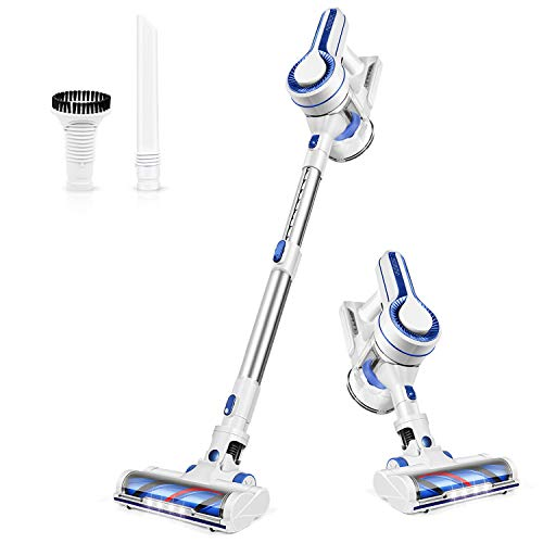 APOSEN Cordless Vacuum Cleaner, Upgraded Powerful Suction 4 in 1 Stick Vacuum Cleaner 35min-Running Detachable Battery, 1.2L Large-Capacity Dust Cup Vacuum Ideal for Hard Floor Carpet Pet Hair-H120