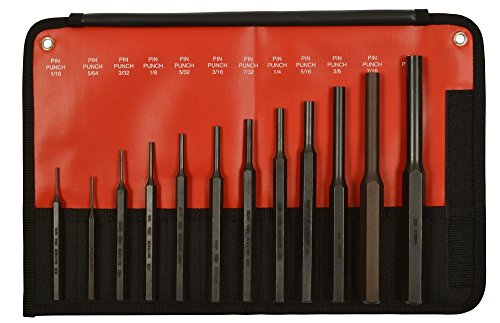 Mayhew Tools 62078 12-Piece Hardened Steel Pin Punch Set