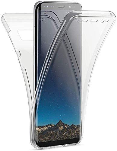 Mkej Cover Protezione Totale 360 Gradi Custodia Silicone Trasparente Compatibile con Samsung Galaxy S8 Plus, Full Body Anteriore Posteriore Sottile TPU Case per Galaxy S8 Plus