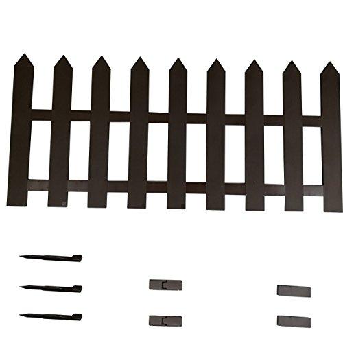 Staccionata per recinto steccato in Plastica Marrone 150X55 STI