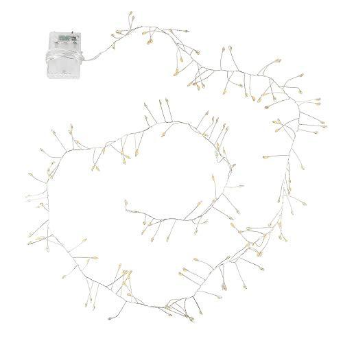 LED-Lichterkette | batteriebetrieben | 150 gebündelte LED-Lämpchen in Warmweiß | Deko für Innen | mit Timer (6 Stunden AN | 18 Stunden AUS) | ideal als Weihnachts-Deko, Tischdeko, Zimmer-Deko