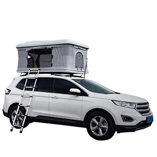 Hydraulische Auto Daktent Automatische Zelfrijdende Tour ABS Hard Shell Buiten, Geschikt voor 2-3 Volwassenen, met Aluminium Vouwladder en Camping Lights