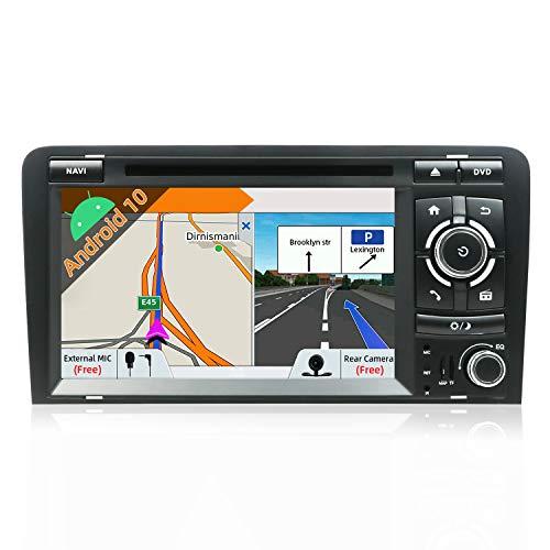 JOYX Autoradio Android 10.0-2 Din Estéreo Compatible Para Audi A3 2003-2011 Navegación GPS |Gratis Cámara Canbus |7 pulgada 2GB/32GB |SD |USB |DAB+ Soporte |3G/4G |WLAN |Bluetooth|MirrorLink|Volante