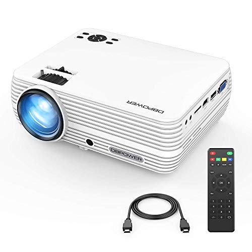 Mini WiFi Projector with 20000 Hours Lamp Life, T49 Multimedia Home Theater Movie Projector,Compatible with Full HD 1128P HDMI,VGA,USB,AV,Laptop,Smartphone