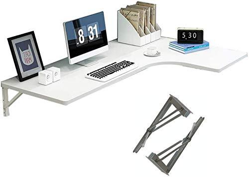 LJYY Escritorio de Esquina Plegable para computadora, Mesa de Comedor de Pared para Piso de Espacio pequeño, Escritorio para computadora, Mesa Auxiliar de Doble Soporte