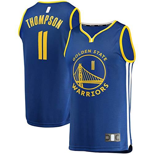 HFHDF Camiseta de baloncesto Klay Thompson Traning Jersey de manga corta dorado State T-Shirt Warriors #11 Fast Break Player Jersey Royal - Icono Edition-M