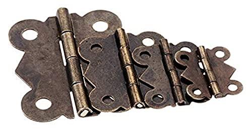 Puertas bisagras hardware retro decoración bisagras 10 unids butterfly puerta bisagras antiguo bronce gabinete cajón caja de joyería decorar la bisagra para muebles hardware con tornillos bisagras a t