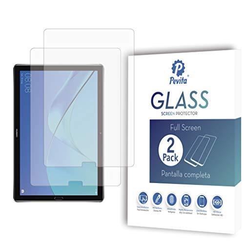 """Protector de Pantalla Compatible con Huawei MediaPad M5 10.8"""" [2 Packs] Cristal Templado para Huawei MediaPad M5 10.8"""". Dureza 9H, Sin Burbujas, Fácil Instalación."""