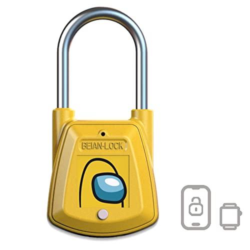 Lock for Locker, Smart NFC RFID Padlock, EEOO Keyless Padlock, Unlock via RFID Cards, Suitable for Locker, School, Gym, Bike, Backpack and Suitcase - Yellow