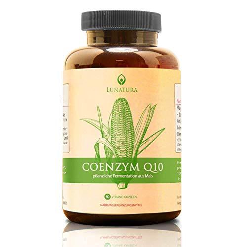 Lunatura Premium Q10 [Hochdosiert 250mg] » Mit Selen und Vitamin B1 (Thiamin) « Natürliches Coenzym/Coenzyme q 10 Tabletten in mg - Co Enzym natürlich coq10 Kapseln (vegan)