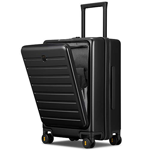 LEVEL8 Road Runner Carry On Luggage, 20-Inch Hardside Suitcase, Spinner Luggage with Front Pocket,...