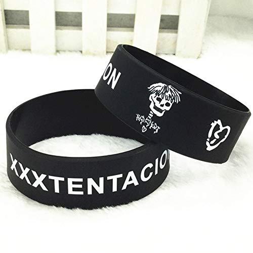 Shanxia XXXtentaci0n Sad Bad Vibes Forever USA American Rapper Star Silikon-Armband, American Football, BK
