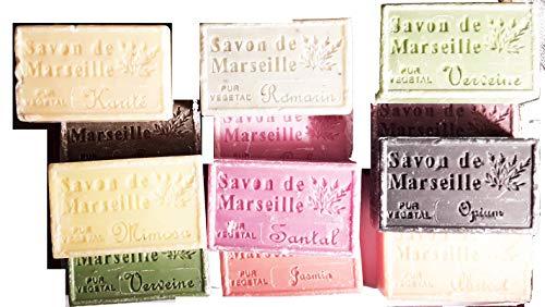 Stock 50 Pezzi Saponetta di Marsiglia Profumata 125 g con olii essenziali (leggermente danneggiati) sapone di marsiglia naturale savon de marseille
