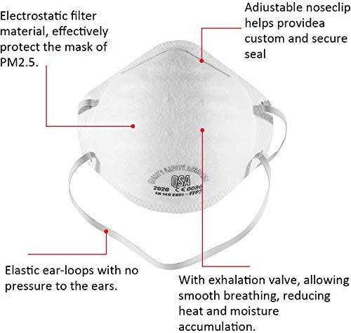 10 STÜCKE N95 FFP2 Mund Staubschutzmaske Falten Schutzmaske Hängen(Eine Million Masken sind auf Lager, und Bestellungen Werden Heute versendet.) - 3