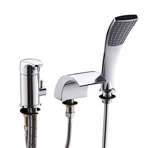 YO-TOKU XIAOFENG-BATH badkamer accessoires Bathroom Shower Head 3 Hole Waterval Mixed kraan badkamer trek douchekop met bad kraan Gelukkig douche Kraan voor Badkamer Home Decoration