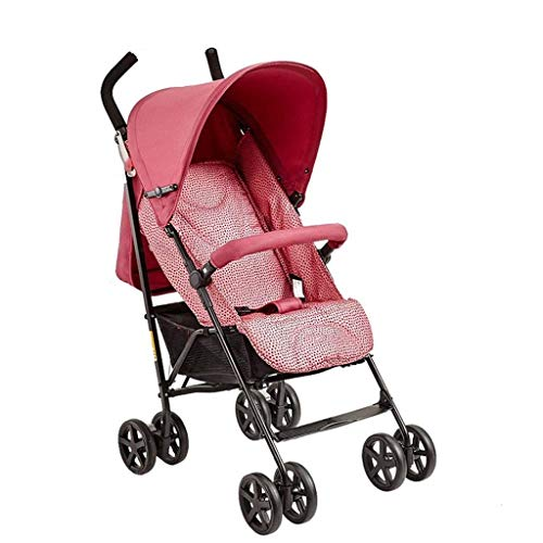 El carro de bebé del cochecito ultra ligero y plegable conveniente puede sentarse Lie niño del bebé de la Cesta de reclinación Amortiguador cochecito for el bebé recién nacido niño Niños y Niñas