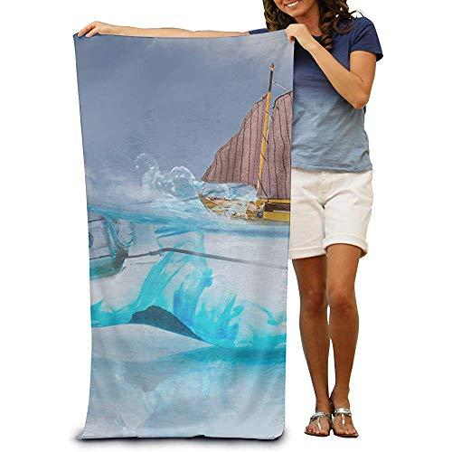 utong Toallas de Playa 100% algodón 80x130cm Toalla de Secado rápido para Nadadores Bombilla Manta de Playa Abstracta