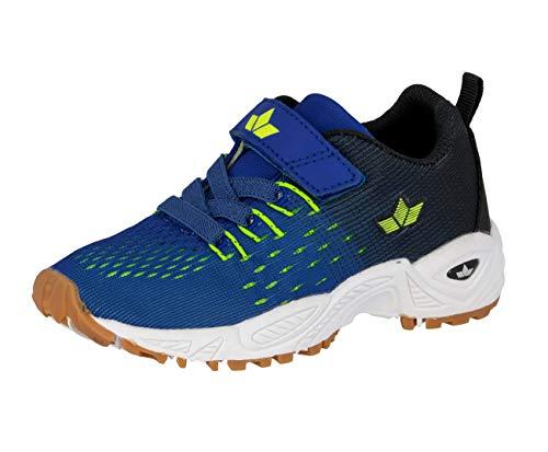 Lico Unisex - Kinder Sportschuhe Mic VS,Trainingsschuhe,lose Einlage, indoorschuhe Hallenschuhe Fitnessschuhe,blau/schwarz/Lemon,35 EU