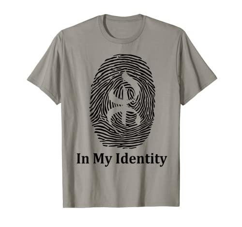 Amazigh In My Identity Berber Yaz Tifinagh Símbolo de la Libertad Camiseta