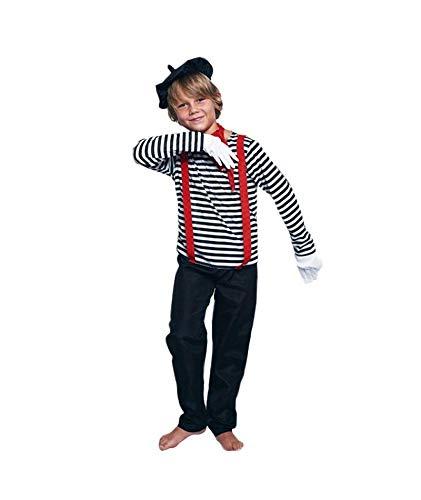 Disfraz Mimo Niño【Tallas Infantiles de 3 a 12 años】[Talla 10-12 años] |Disfraz Infantil Carnaval Profesiones Halloween Fiestas Disfraces Obras Teatro Actuaciones