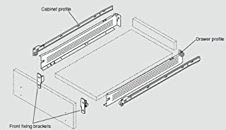 Blum Metabox C-15 3/4 Extension Sides Narrow 20