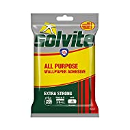 All-purpose – The strong wallpaper adhesive is ideal for a range of wallpaper hanging projects and ensures reliable and long-lasting results for up to 10 rolls of wallpaper. Easy to use – The Solvite wallpaper adhesive can be mixed in 20 seconds and ...
