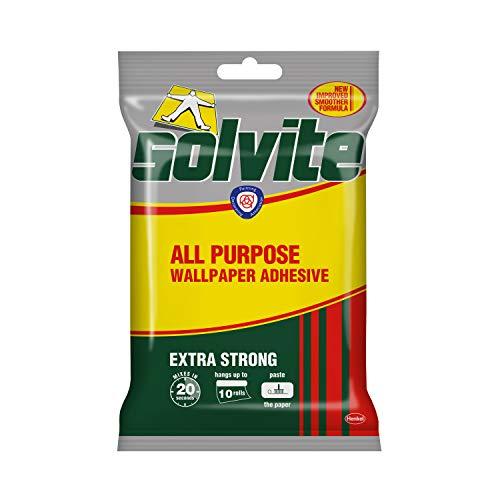 Solvite - Adhesivo extra fuerte para papel pintado (10 rollos), 185g