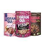 Granola de Chocolate Sin Gluten - Elaborada con Aceite de Oliva Virgen Extra - Ingredientes Naturales - Proceso 100% Artesano - Copos de Avena para Desayuno o Merienda